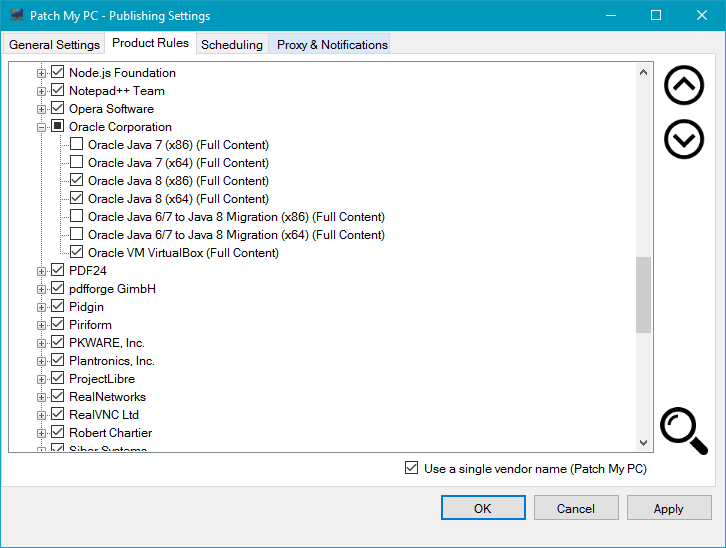 Patch My PC Publishing Service Selective Filtering