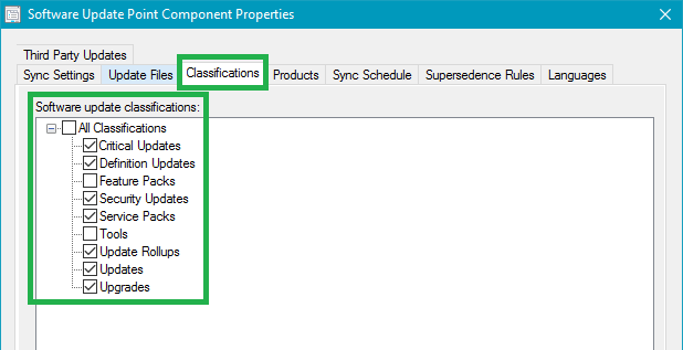 Aligning Classifications to Match Microsoft Standards for