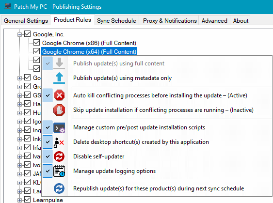 Publish Third-Party Updates in SCCM with Custom Actions On Updates