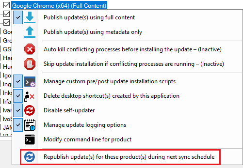 republish third-party software updates to WSUS and SCCM