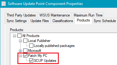 PatchMyPC Single WSUS Product and Category