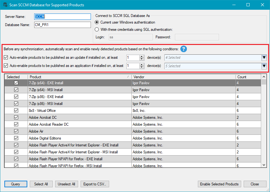 Automatically Enroll Products Based on SCCM Inventory Scans