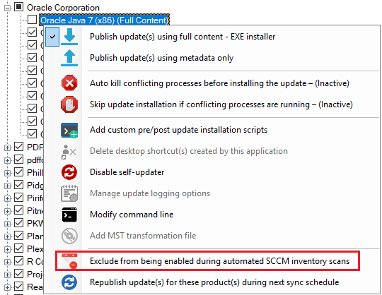 Exclude Product from Being Auto-Enabled Patch My PC Publisher