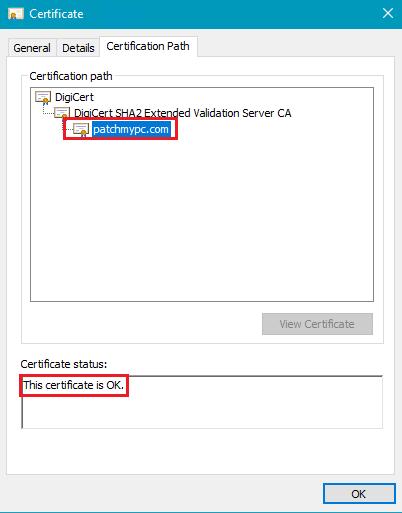 SSL View Certification Path