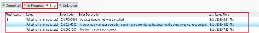View Status Software Update Deployment SCCM Console