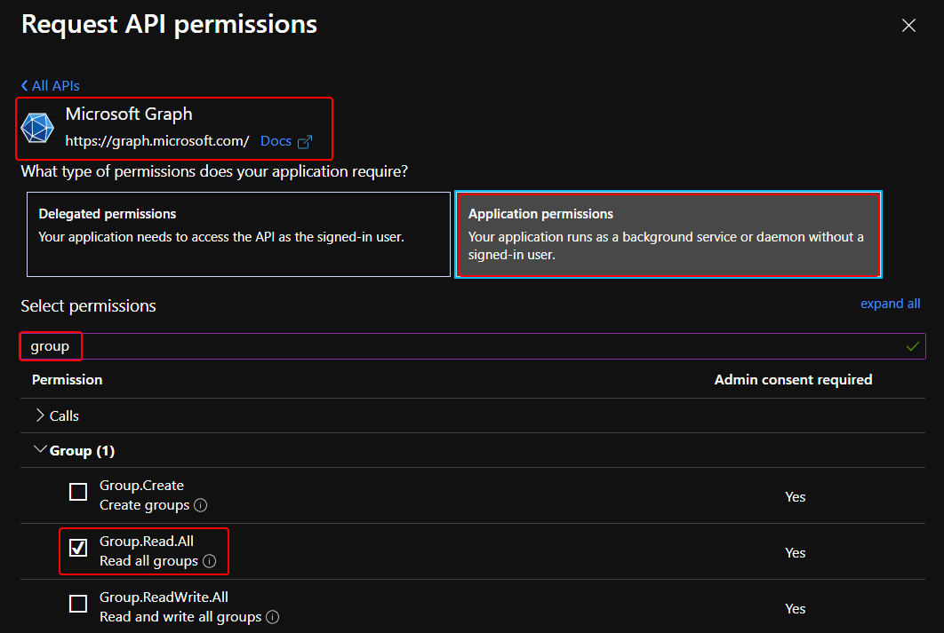 Add Intune App Permissions for Azure App Registration