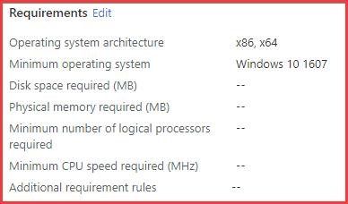 Intune Win32 Application Requirements