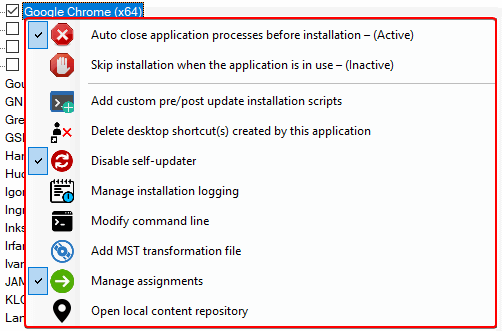 Configure Custom Installation Options Intune Apps