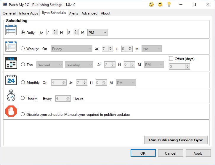 Configure Intune Sync Schedule