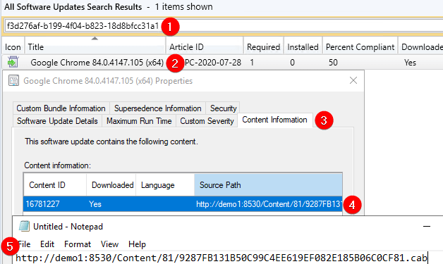 Copy Source Path to Download Update for Error 0x800b0109