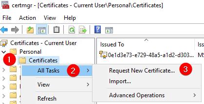 Request New Certificate...