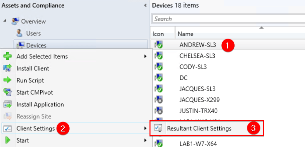 Resultant Client Settings SCCM Third Party Updates