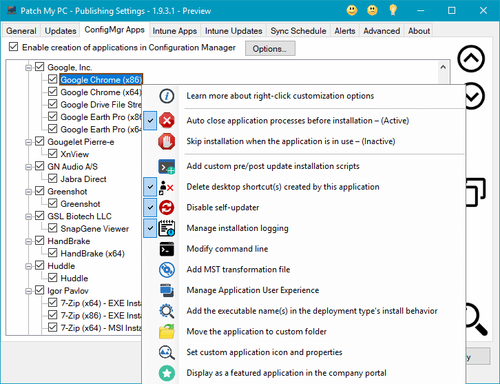 List of Products to Package as Applications in SCCM