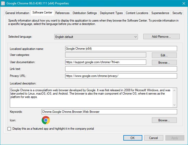 Software Center Application Tab for SCCM App