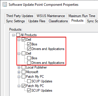 Duplicate Dell Company Category in ConfigMgr Products SUP