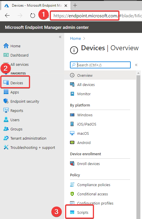 Intune \ Devices \ Scripts