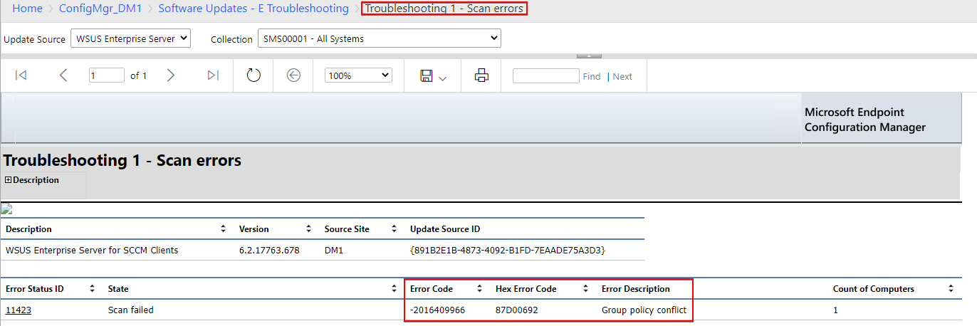 Troubleshooting 1 - Scan errors