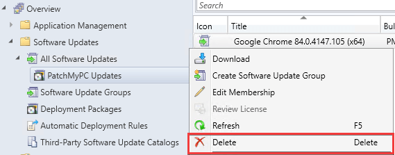 Delete specific update from a deployment package in ConfigMgr