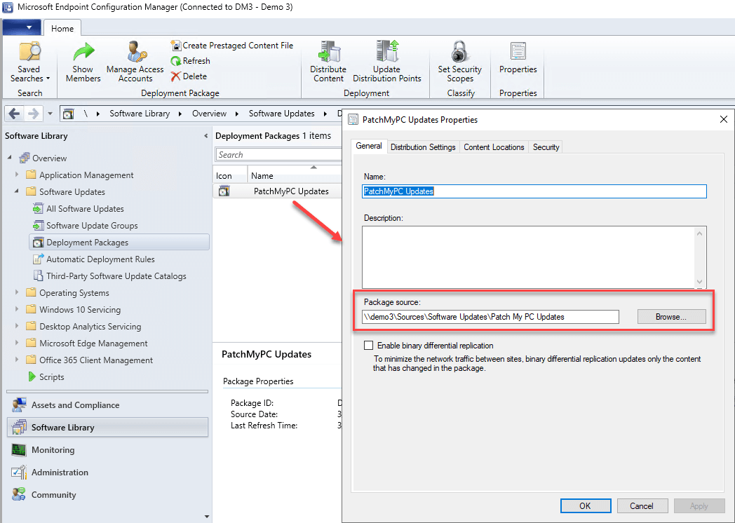 Failed to download content access denied - Deployment Package properties
