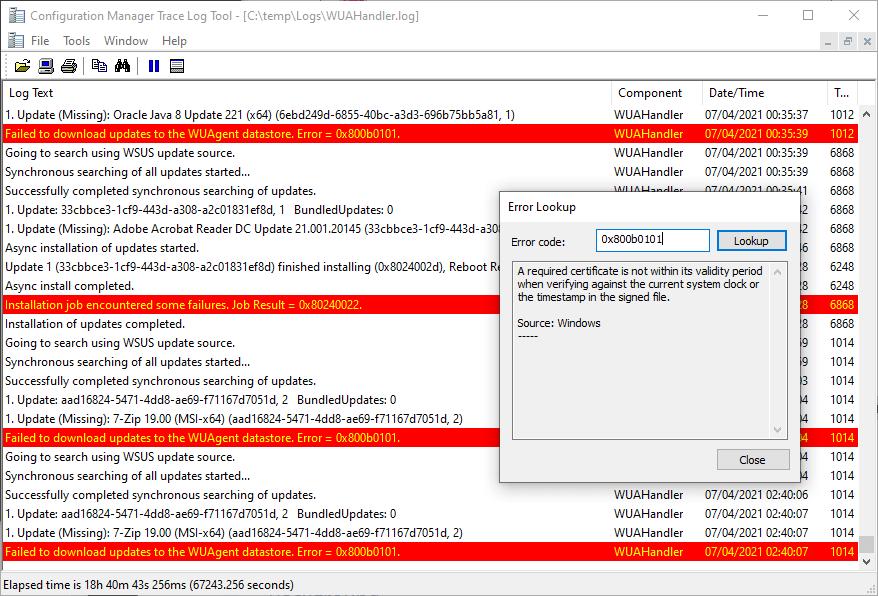 Error-0x800b0101-Third-Party-Updates-SCCM-2