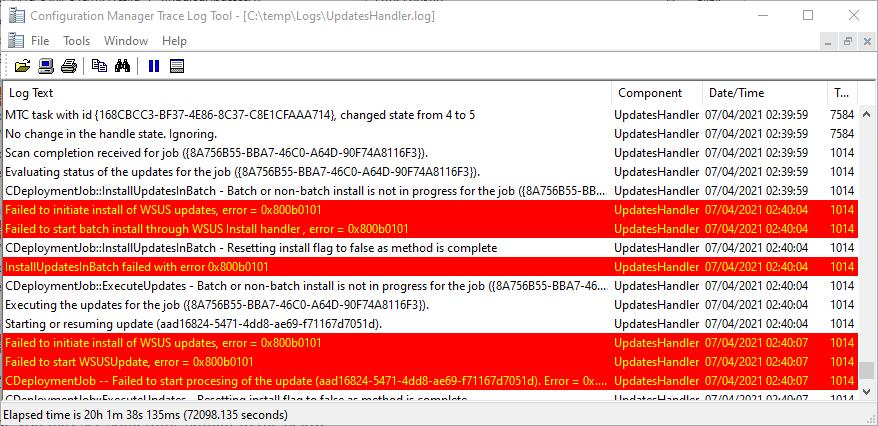 Error-0x800b0101-Third-Party-Updates-SCCM-3