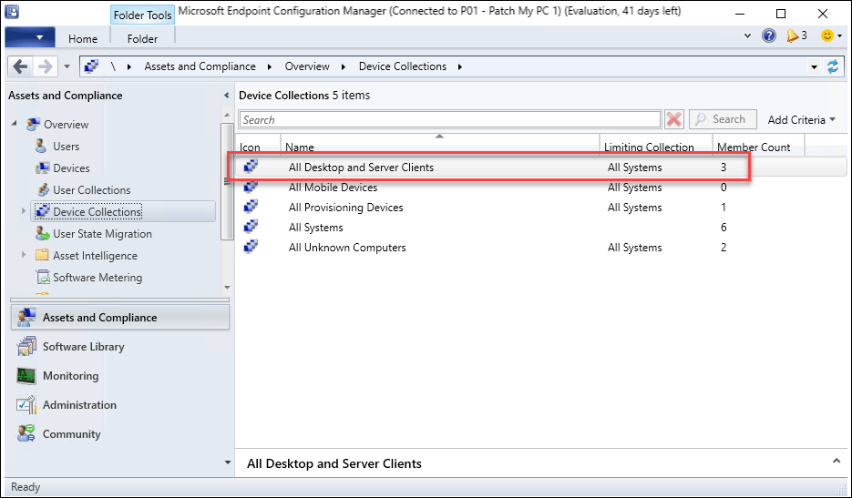 Personal Lab Subscription device count exceeded in SCCM console