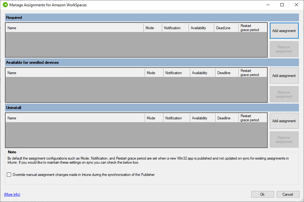 Managed Assignments UI
